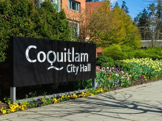 City Hall Coquitlam Sign