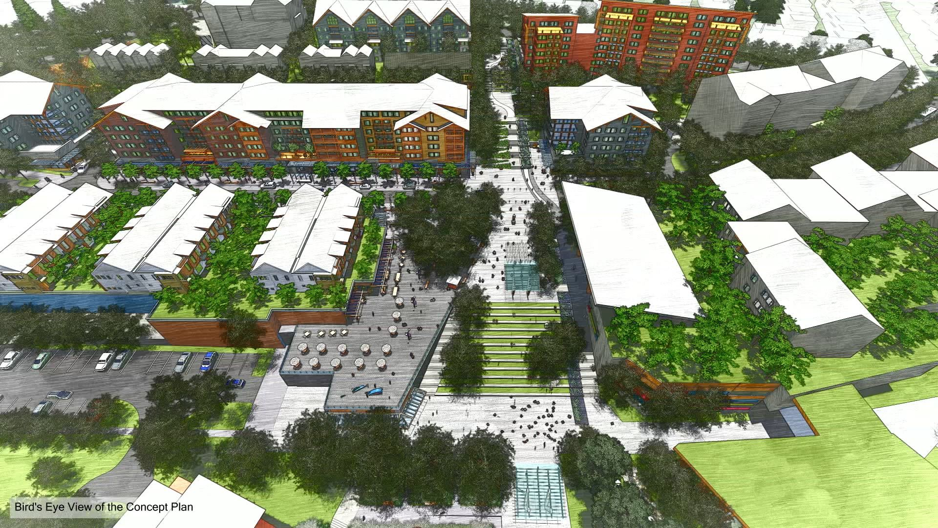 Bird's eye view of Concept Plan