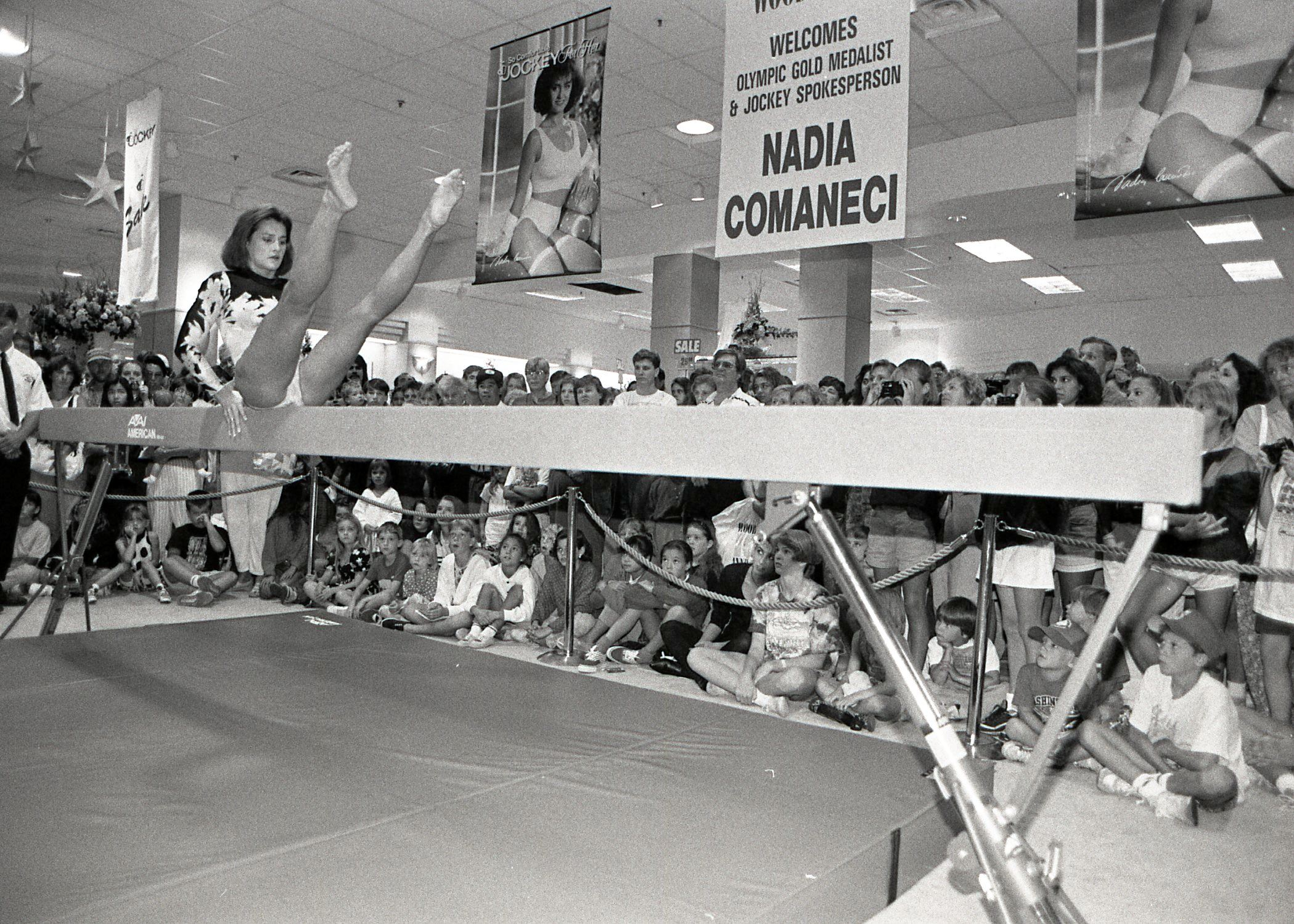 Gymnast Nadia Comaneci at Coquitlam Centre, 1992 (JPG) Opens in new window
