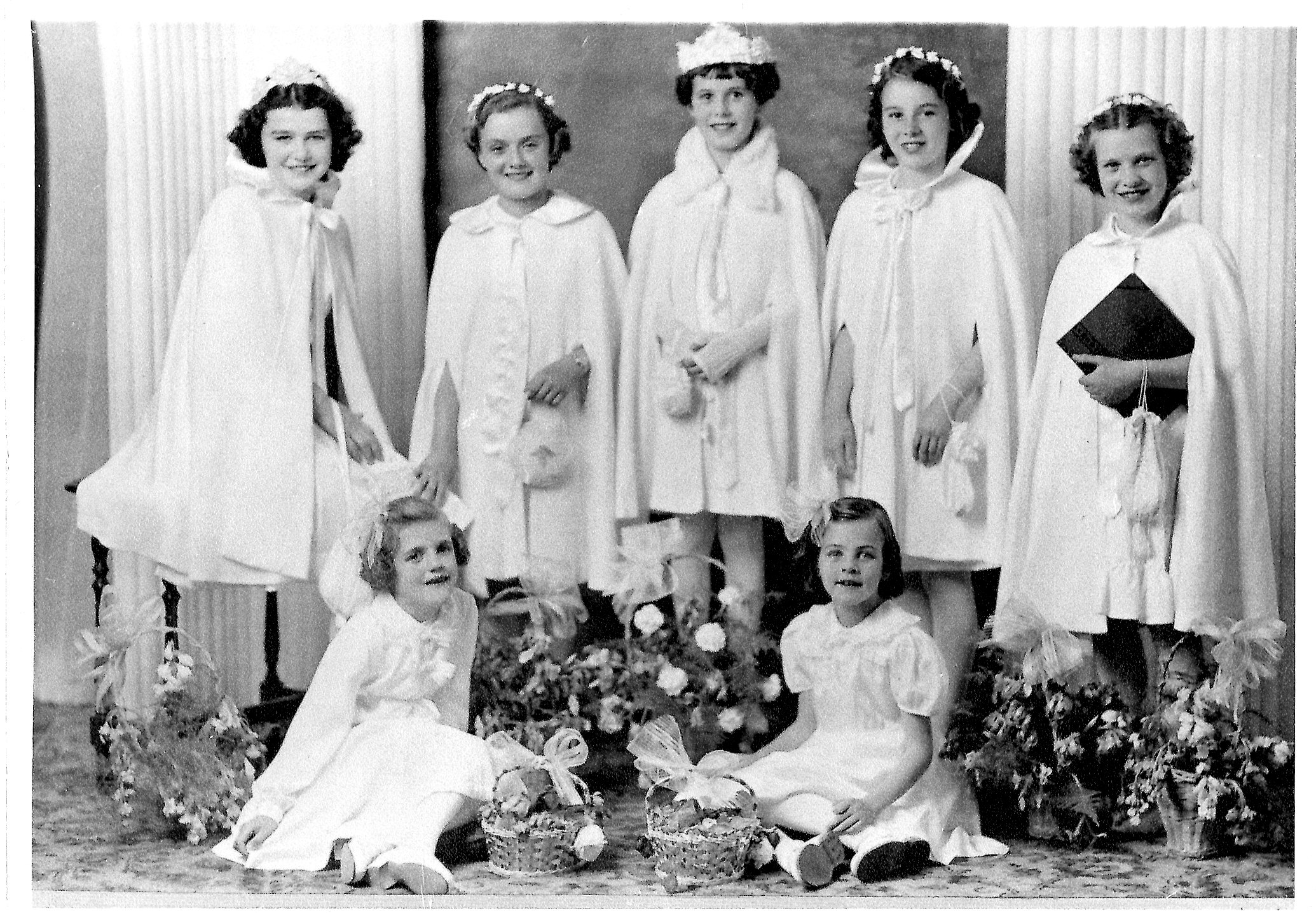 May Queen Gilberte Gamache and Her Attendants, Including Joyce Brown, 1941 (JPG) Opens in new window
