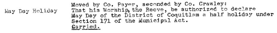 Council Minutes Excerpt, May 10, 1948 (JPG) Opens in new window