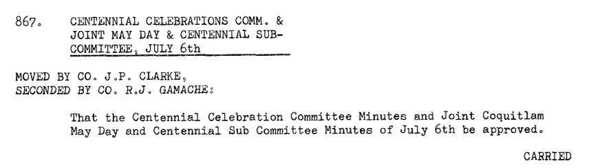 Council Minutes Excerpt, July 26, 1966 (JPG) Opens in new window