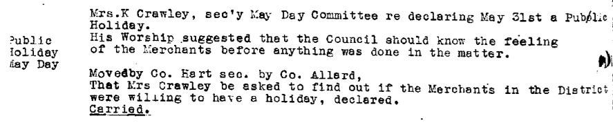 Council Minutes Excerpt, April 8, 1940 (JPG) Opens in new window