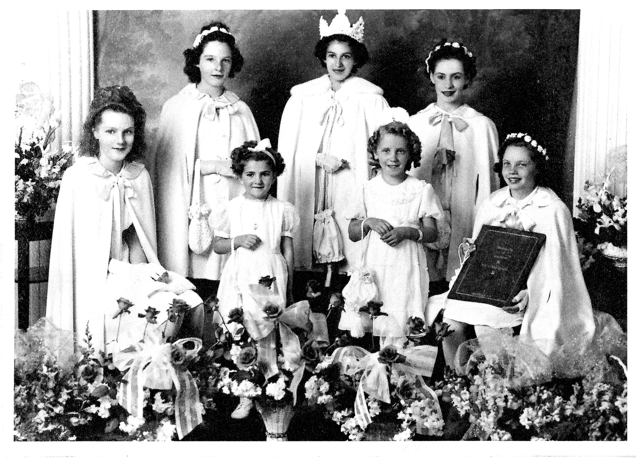 Portrait of the May Queen and Her Attendants, 1944 (JPG) Opens in new window