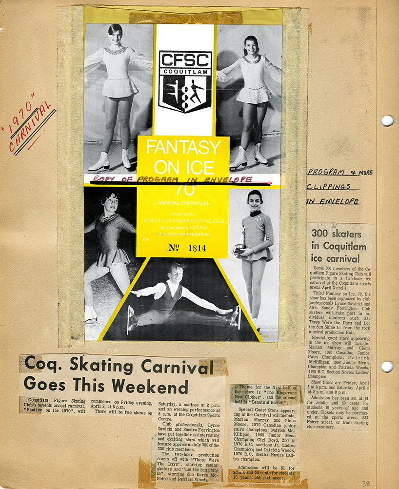 Coquitlam Figure Skating Club Scrapbook, Page 38 (JPG) Opens in new window